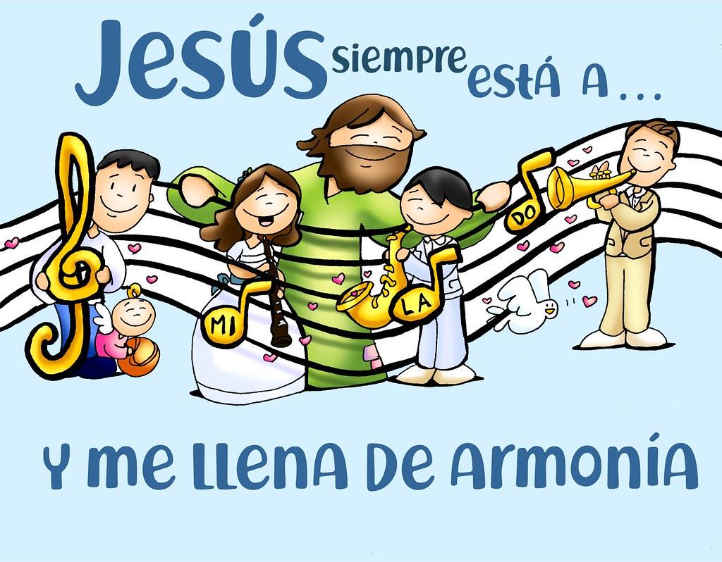 Con Jesús siempre a MI LA DO, siento armonía