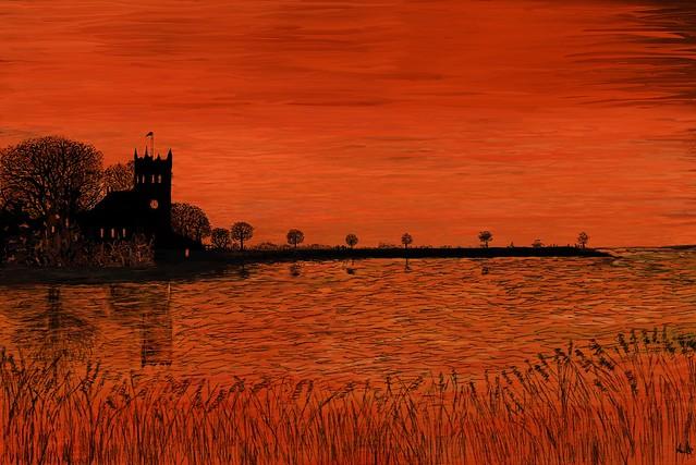 Sunset At Wiggenhall, St Germans Norfolk