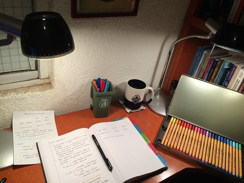 Reading highlighting scribbling annotating