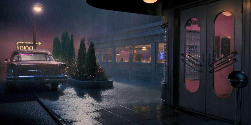 The diner restaurant location