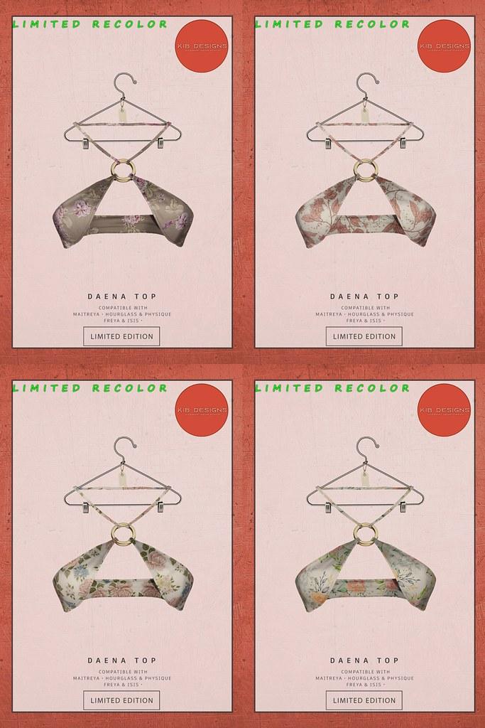 KiB Designs – Daena Top Limited Edition @Energy Weekend Price 16th July