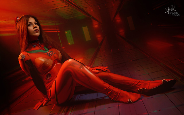 Anastasya N. as Asuka from Neon Genesis Evangelion by SpirosK photography (IV: A moment of relaxation)