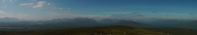 Looking west from the summit of Stob na Cruaiche towards the Munros of Argyll and Lochaber