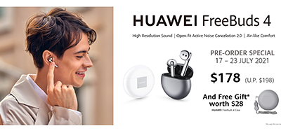 The Huawei FreeBuds 4 is available in Silver Frost and Ceramic White.