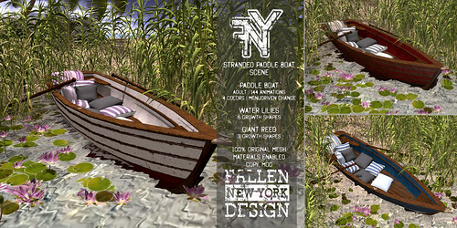 FNY Designs - Romance Paddle Boat Scene