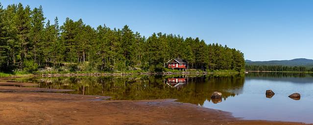By the lake of Sandvatn, Norway