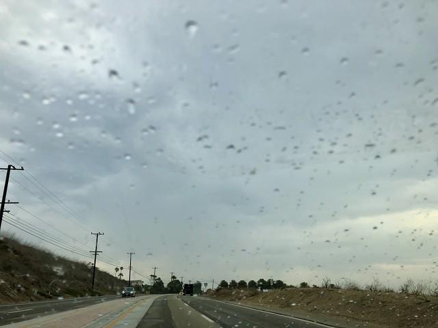 it actually rained in Malibu