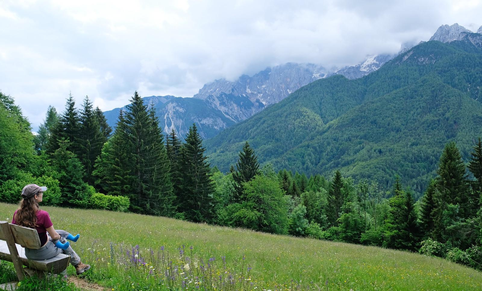 Srednji Vrh loop trail, Kranjska Gora, Slovenia