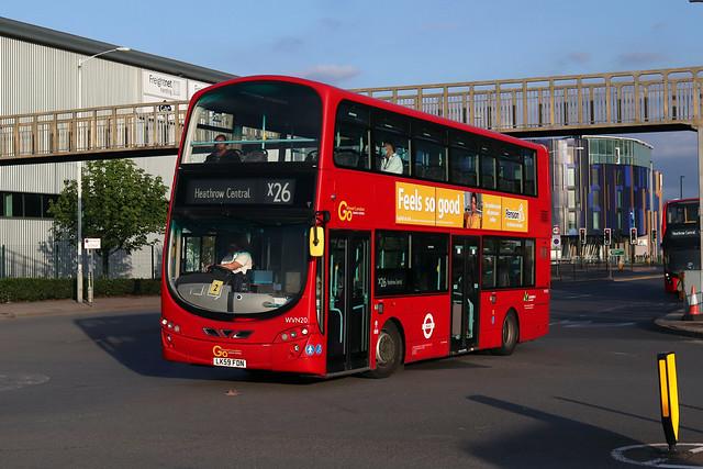 Route X26, Go Ahead London, WVN20, LK59FDN