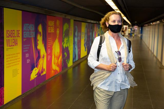 """Inauguració de la intervenció mural """"Humanitats en femení: grans dones de la cultura universal"""""""