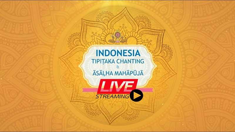 Peringatan Āsāḷha 2565 Indonesia Tipiṭaka Chanting Digelar Virtual