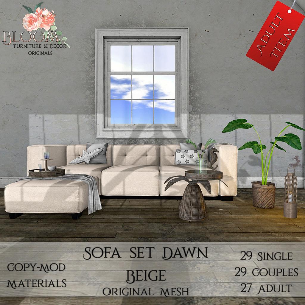 Bloom! Originals - Sofa set Dawn Beige(A)AD