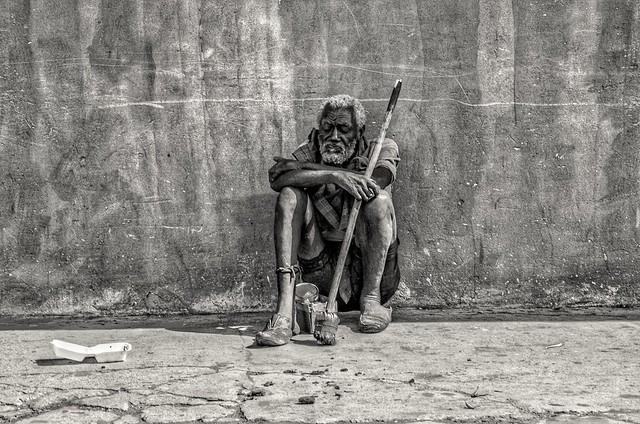 Man on street in Jamaica