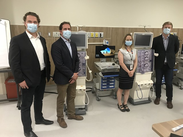 New hemodialysis stations at the Peter Lougheed Centre in Calgary.