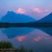 Smoky Sunset at Vermilion Lakes