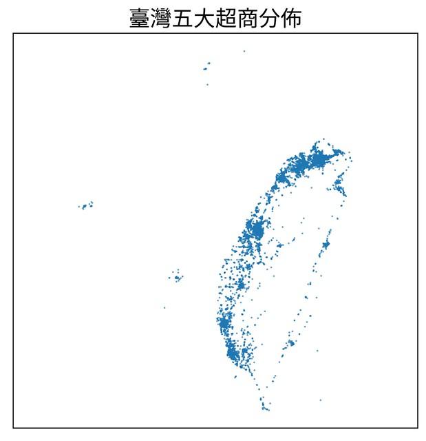 臺灣五大超商分佈_全