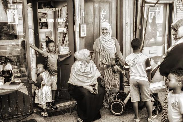 Multicultural Britain. Somali shop in Bristol