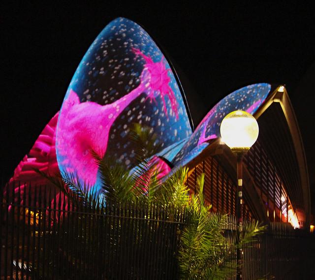 Coronavirus projection on Sydney Opera House four years ago?