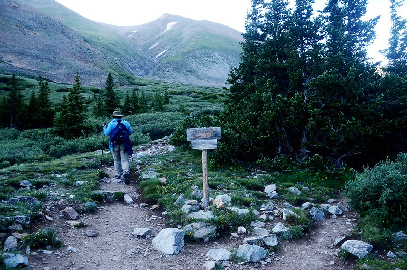 Missouri Gulch Trail、Mount Belford Trail junction