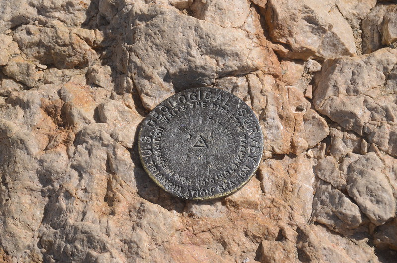 Benchmark on the summit of Mount Belford