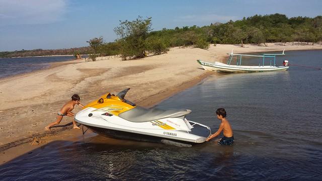 Alter do Chão, praia do Rio Tapajós, na Amazônia brasileira.