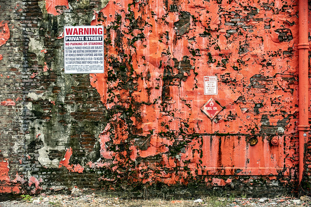 Factory Wall--Red
