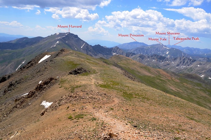 View to the southeast from the summit of Mount Belford (1)