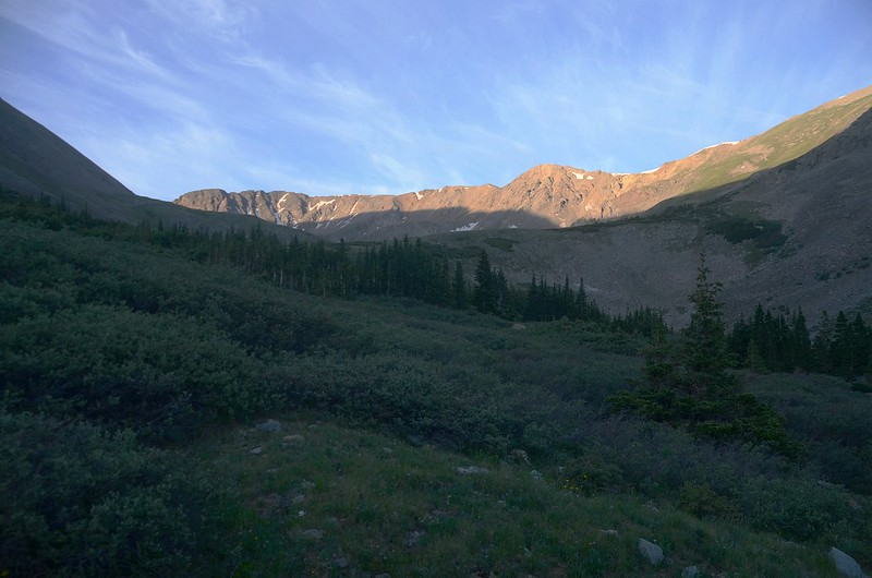 Looking south at Missouri Mountain from Missouri Gulch