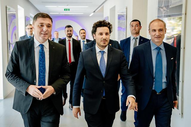 Dritan Abazović - predsjednik Demokratske partije i lider opozicije u Albaniji, Lulzim Baša