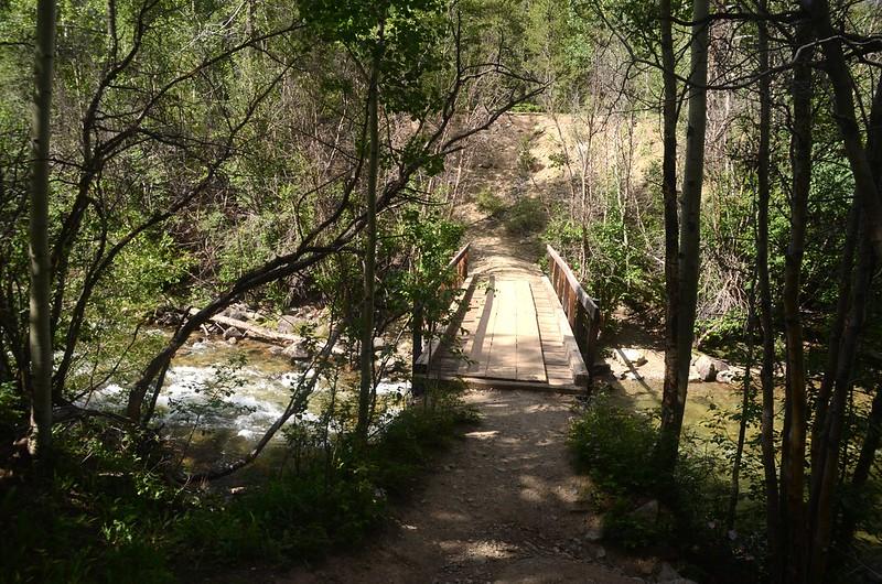 A bridge crossing Clear Creek
