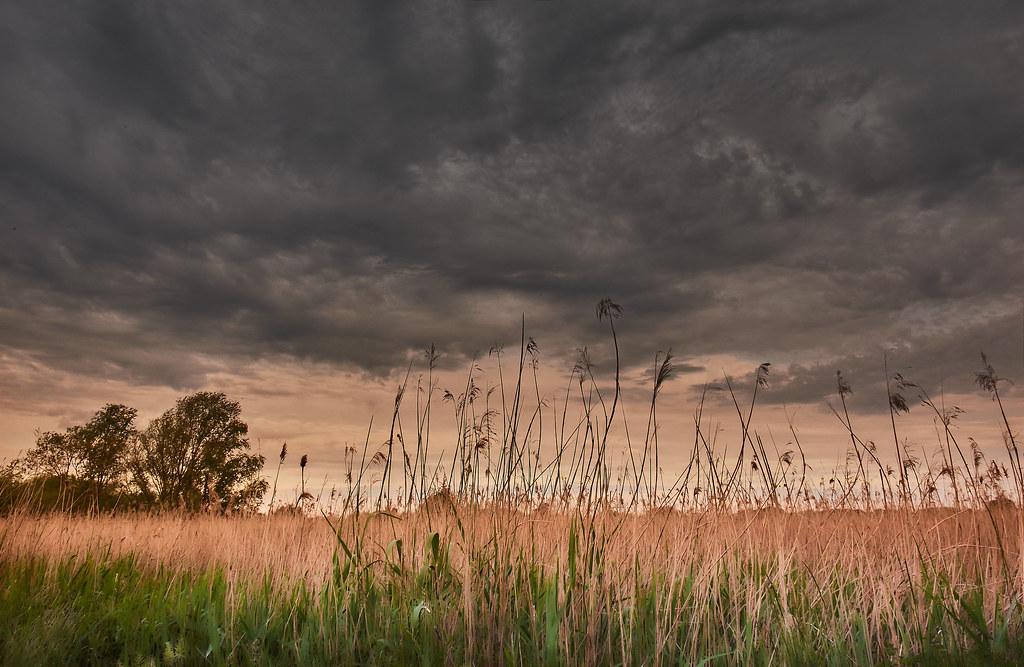 dark clouds drift away
