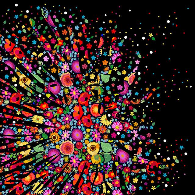 Abstract ink background. Paint splatter background. Vector illustration.