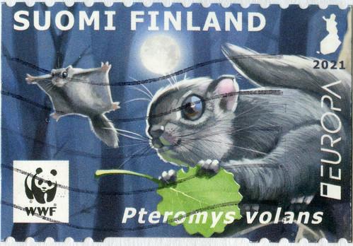 Sello de Finlandia de Correos de la serie Europa-CEPT 2021