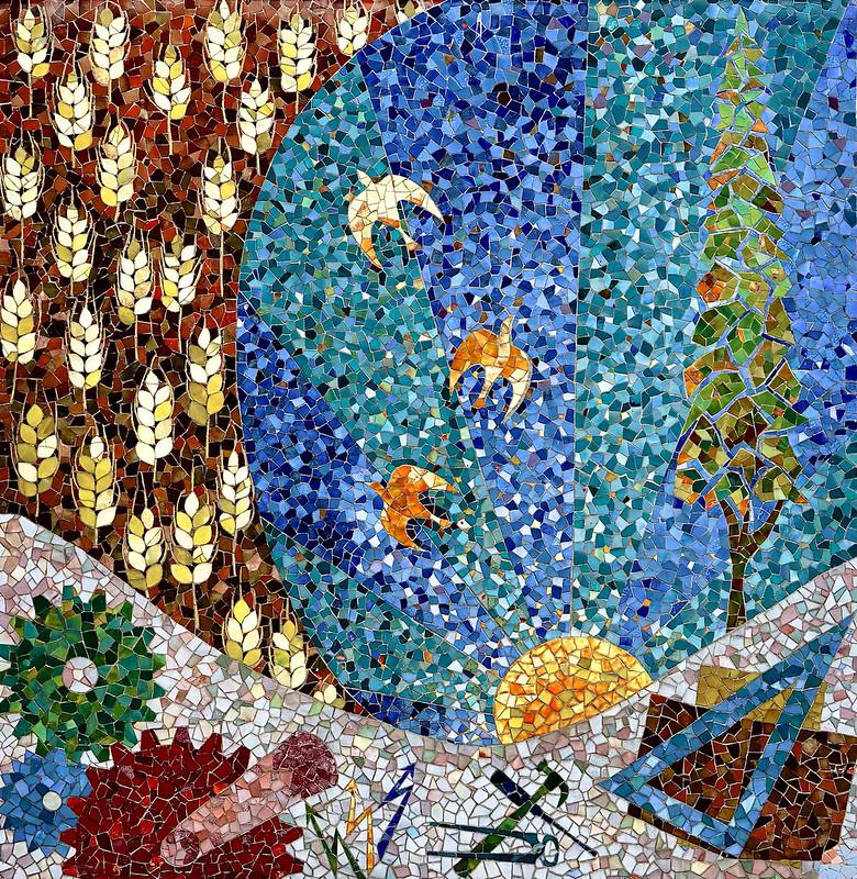 Mozaiek,    leer-werkplaats