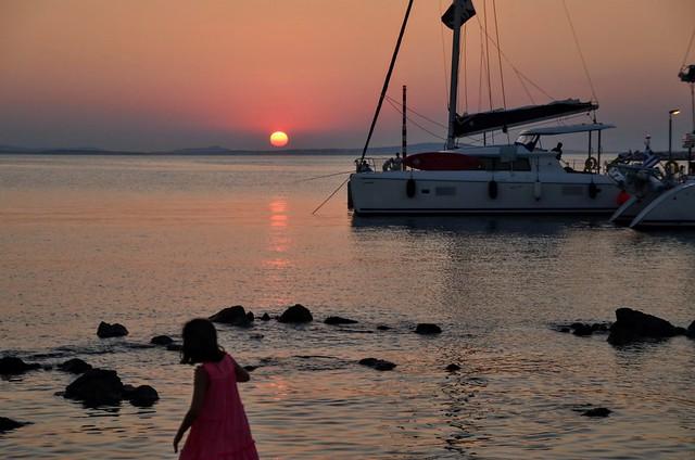 Magic sunset at Naxos
