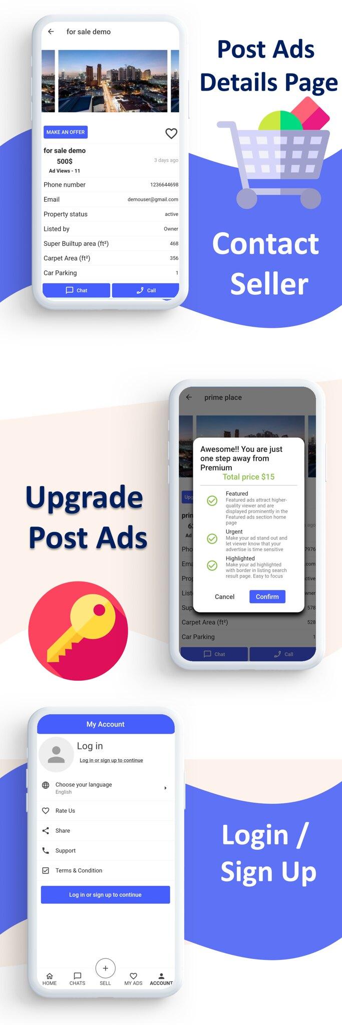 Mark Classified App    App classificado    Gateways de múltiplos pagamentos integrados    Compra e Venda    Assinatura - 6