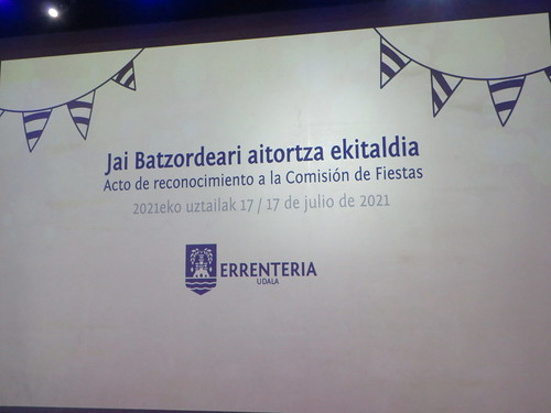 Errenteriako Jai Batzordeari aitortza ekitaldia (2021-07-17)