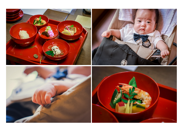 名古屋の蓬莱軒のお食い初め膳(料理)