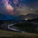 The Milky Way over Blakiston Creek