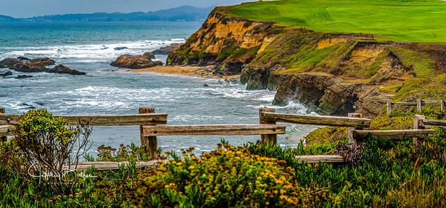 Half Moon Bay Coast Line Fence-