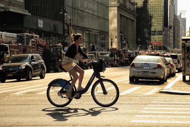 Morning bike ride in Manhattan