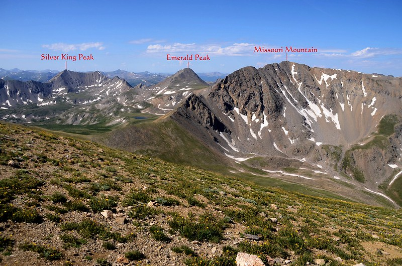 Mountains views from the flat spot near 13,900 ft (1)