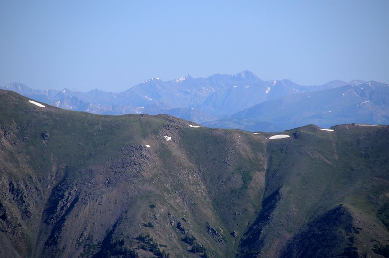 Looking north at Mount of the Holy Cross from Mount Belford trail near 13,260'