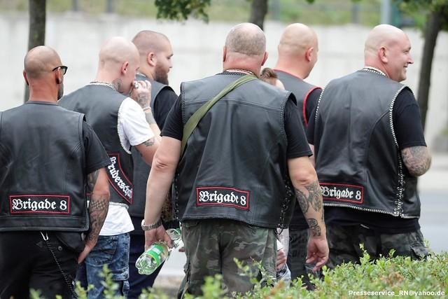 2021.07.17 Frankfurt Oder - Neonaziaufmarsch Bruderschaft Wolfsschar und Protest (1)