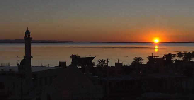 Sunset in the Strait of Hormuz, Persian Gulf, Iran