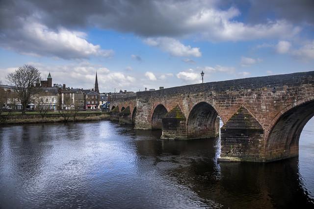 Devorgilla Bridge and the River Nith, Dumfries