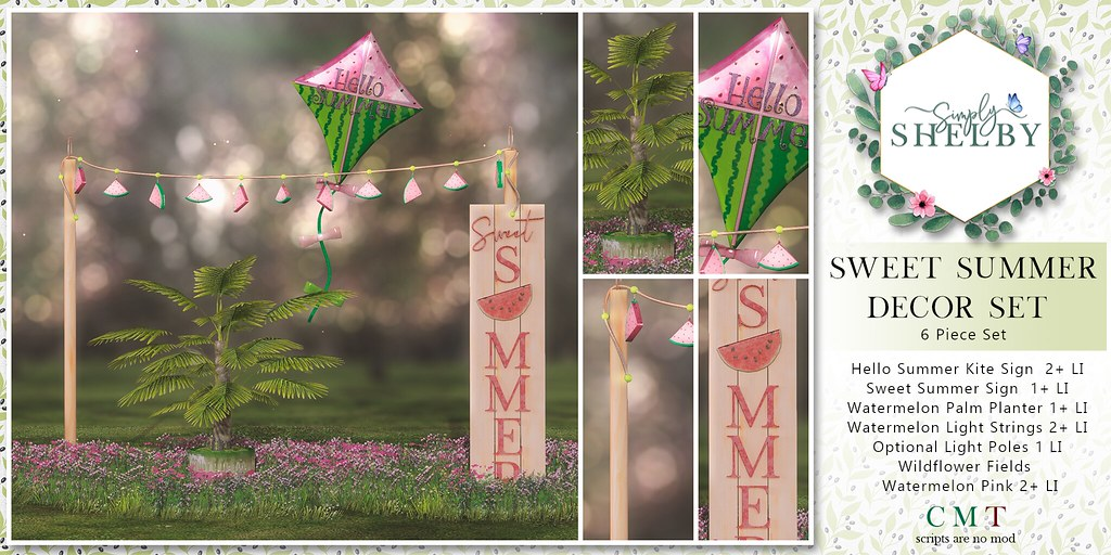Simply Shelby Sweet Summer Decor Set