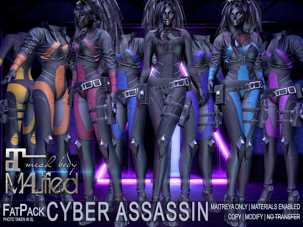MALified – Cyber Assassin Outfits – FatPack