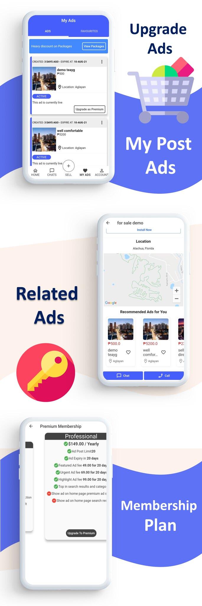 Mark Classified App    App classificado    Gateways de múltiplos pagamentos integrados    Compra e Venda    Assinatura - 7