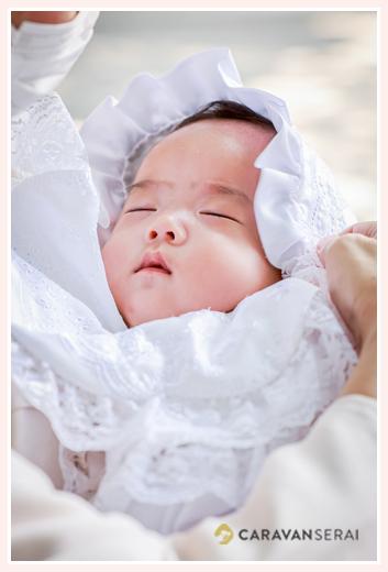 初宮参り ベビー服の赤ちゃん